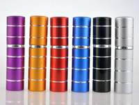 100 pçs / lote Nova Moda Mini linha 10 ml frasco de perfume de alumínio perfume atomizador frasco de perfume de viagem garrafa de spray reutilizável