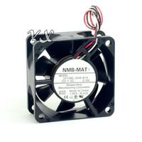 Новый и первоначально 2410ML-04W-B19 6025 6CM 12V 0.10 A трехпроводной двойной вентилятор шарового подшипника для NMB 60*60*25mm