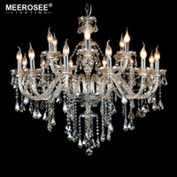 Cognac Crystal Chandelier Lamp Glass Arms Chandelier Pendell...