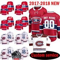 Uomo personalizzato 2018 Montreal Canadiens 83 Ales Hemsky 65 Andrew Shaw Jersey 14 Tomas Plekanec 11 Brendan Gallagher 32 Mark Streit Jerseys Mens