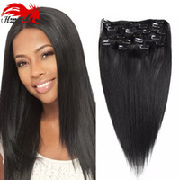 Hannah Remy Brazilian Straight Clip In Human Hair Extensions...