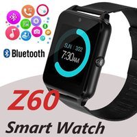 Bluetooth Smart Watch Phone Z60 Support en acier inoxydable SIM TF Card Camera Fitness Tracker GT08 GT09 A1 V8 Smartwatch pour IOS Android OTH400