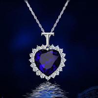Кристаллы Титаник Сердце океан Любовь Ожерелье Подвеска для ювелирных Женщины моды Дня рождения Лучших Друзья Подарков