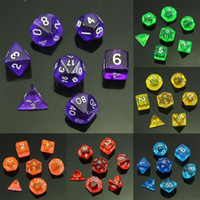 1 set di dadi a 7 facce D4 D6 D8 D10 D12 D20 per MTG RPG DD Poly Dice Board Game
