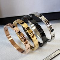 New Korean Fashion Couple Bracelet Couple Titanium Steel Ros...