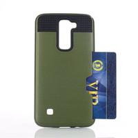 Armor tpu + pc híbrido escovado slot para cartão de crédito case capa para o lg g6 k5 k5 k7 k7 k7 k7 k7 l7 l1 k7 l1 l1 lv3 lv5 x skin x poder x estilo hx