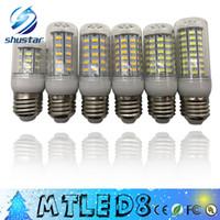 SMD 5730 E27 E14 G9 GU10 LED مصباح 7W 12W 15W 18W 220V 110V 360 زاوية 5730 الترا برايت LED لمبة الذرة مصابيح الثريا ضوء
