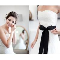 9 colores Cinturones de boda baratos simples Cinturón Novia Cinturón nupcial largo con arco Elegantes accesorios de boda para novia