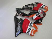 moldeo por inyección GRATIS Personalizar KIR carenado para Honda CBR600 F4 1999 2000 carenados negro rojo ajustado CBR 600 F4 99 00