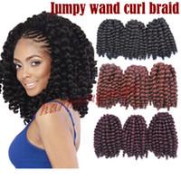 Синтетический парик для женщин Бразильская модель для волос AFRO SPALE 2X WAND CURL CURL CUROCHET Удлинитель для волос Bea455