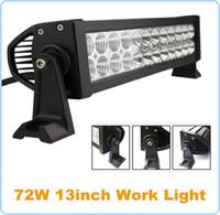 72 W 13 pulgadas LED de Trabajo Luz de conducción Barra de Niebla Lámpara Punto Amplio Haz de Luz de Reflector 10 V ~ 30 V para Carro de Automóviles SUV 4x4 ATV Fuera de Carretera