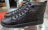 New Red Bottoms Sneakers Luxury Designer High Top Skate Snea...