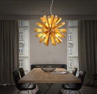 L54-Basit Moda LED Karahindiba Ahşap Avize Oturma Odası Restoran Yatak Odası Gerçek Ahşap Havai Fişek Avizeler, Destek Bırak Gemi