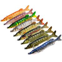 """Big Life Multi-articulado 9 segmentos cebos Pike 8 """"/ 20cm 66g Señuelo de la pesca 9 colores Swimbait Hard Bait"""