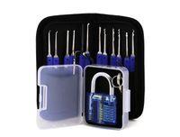 12 adet Mavi Anahtar ile Kilidini Kilit Seçim Seti Anahtar Extractor Aracı Uygulama Asma Kilitler Çilingir için Seçim Araçları