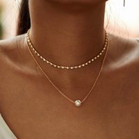 New design Lovely Style 2 layers imitation pearl pendant Nec...