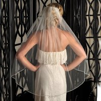 خمر العاج الزفاف الحجاب طبقة واحدة الإصبع طول لينة تول الحجاب الزفاف الساخن بيع رخيصة اكسسوارات الزفاف للعروس لينة