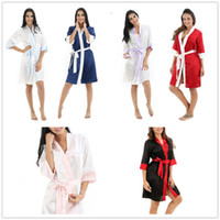 4 cplors Sexy Satin Night Robe Bathrobe Perfect Wedding Brid...