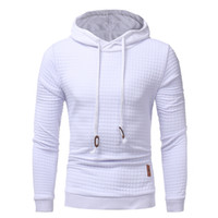 2017 Mens Hiver Hoodies Casual Sweat À Capuche Noir Blanc Manteau Sweats Pullover Jumper Veste De Mode Gymnases Vêtements de Haute Qualité M-3XL
