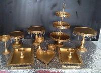 Set di 12 pezzi oro stand torta stand cupcake nozze set cristallo candy bar decorazione torta strumenti bakeware set