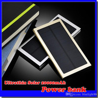 20000mAh Solar Power Bank 2 Porta USB caricabatterie esterno batteria di backup con scatola al minuto per iPhone iPad Samsung Mobile Phone