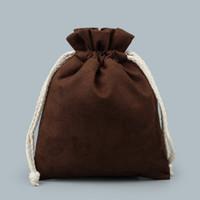 Большой сгущаться бархат полотенце подкладка мешок шнурок ювелирные изделия сумка для хранения ремесла брелок ожерелье из бисера браслет подарочная упаковка сумки 2 шт. / лот