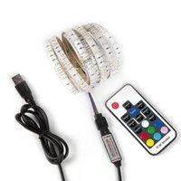 Sticker controller DC5V luci di striscia LED 3528SMD 60LEDs RGB singolo colore Rosso Verde retroilluminazione USB impermeabile TV PC IP65 Lampade Tatuaggi