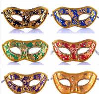 Rhinestone Renkli Bez Venedik Maske Cadılar Bayramı Masquerade Maskeleri Şenlikli Parti Malzemeleri Parti Maskeleri Kaliteli
