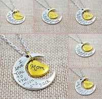 Luxury Retro Moon Necklace I Love You To The Moon e Back For Mom Dad Sister Brother Family catena ciondolo catena regalo della mamma
