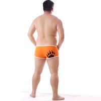 Neue Männer Plus Size Bär Klaue Pfote Boxers Baumwolle Unterwäsche Sexy Shorts Design Für Homosexuell Bär M L XL XXL XXXL