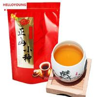 250g Çin Organik Siyah Çay Lapsang Souchong Duman Kırmızı Çay Yeni Pişmiş Çay Sağlıklı Yeşil Gıda Tercihi olmadan