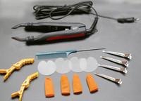678 PLACA PLANA de calidad superior Fusion Hair Extension Keratin Bonding Tool Conector de pelo de hierro de calor