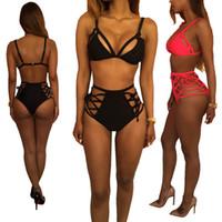 2017 Hot Design Push Up Due pezzi costume da bagno brasiliano personalità costume da bagno sexy biquinis halter cinghie donne 5 colori costumi da bagno bikini
