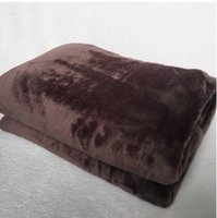 Classic brown flower Famous pattern L 2layer Blanket Flannel...
