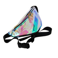 Wholesale- 7 Colors Rainbow Transparent Bag Punk FANNY PACK ...