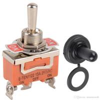 1Pc Orange SPDT 3 Terminal ON / OFF / ON Interruptor de palanca Interruptor a prueba de agua sombreros B00061 JUST