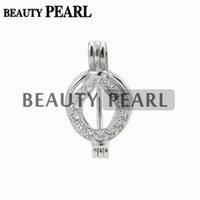 5 Pieces Pearl Cage Pendant Zircon Charm Pick Pearl Gift 925...