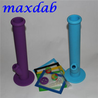 Silicone water pipe bong with glass accessories 14*11.5cm silicone mat and 2pcs 5ml silicone container for free shipping