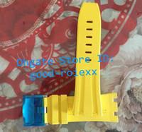 5 Цвет 28мм * 18мм * 9мм Ремешок для часов Черный резиновый ремешок Застежка Royal Offshore Watch Bands Oak Diver Мужские Водонепроницаемые часы Стальная пряжка Застежка