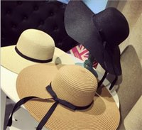 20pcs Women Large Floppy Foldable Straw Hat Boho Wide Brim B...