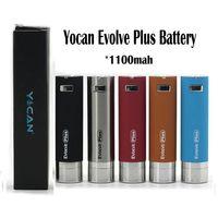 Yocan Evolve Artı Pil 1100 mAh Piller E Sigaralar Balmumu Buharlaştırıcı Kalem Kitleri Varış 5 Renkler Yocans için Gelişir Gelişir