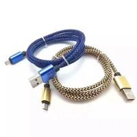 Hızlı şarj 2A Metal Alüminyum Konnektör kenevir halat Mikro USB Kablosu Kurşun şarj Kablosu Samsung S6 S6 kenar S5 S4 Android Telefon