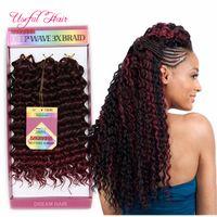 Savana Crochet Curly Twist 3 Pçs / Pack Crochet Tranças Cabelo Cabelo Curly Curly Ombre Bug Jerry Curly 10inch Trançado Sintético Cabelo