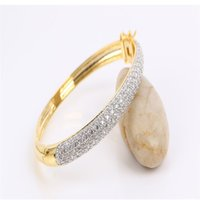 New Wedding Shining CZ Stone Bangles18k White Gold 129pcs 0....