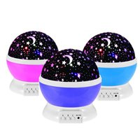 La más nueva rotación Night Light Starry Star Moon Sky Romantic Night Projector Light Lamp Decorating Wedding Birthday Parties for kid