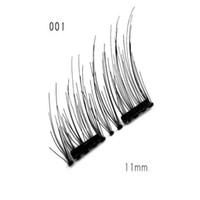 Cílios falsos duplos cílios magnéticos makeuptouch olho macio com sem gule ímã cílios perfeitos para o dia a dia 4 pcs / set