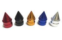 500 قطعة / الوحدة برج الألومنيوم الاطارات صمام قبعات للسيارات دراجة نارية سبيكة الاطارات صمام الجذعية قبعات لنا صمامات السيارات أجزاء التصميم