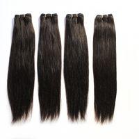 """100 İnsan Saç Atkı Brezilyalı Düz Paketi Saç Uzantıları # 1B Siyah 2. 8. Kahverengi # 613 Sarışın Mix Uzunlukları Brezilyalı Saç Dokuma 12 """"-24"""""""