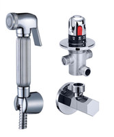 "Thermostatische Mixer-Ventil Messing Hand Bidet Sprayer Duschkopf - Chrome Windel Douche Kit w / G1 / 2 ""Absperrventil"