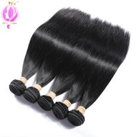 Top quality Malaysian Human Hair 5 Bundles Straight Hair Ext...